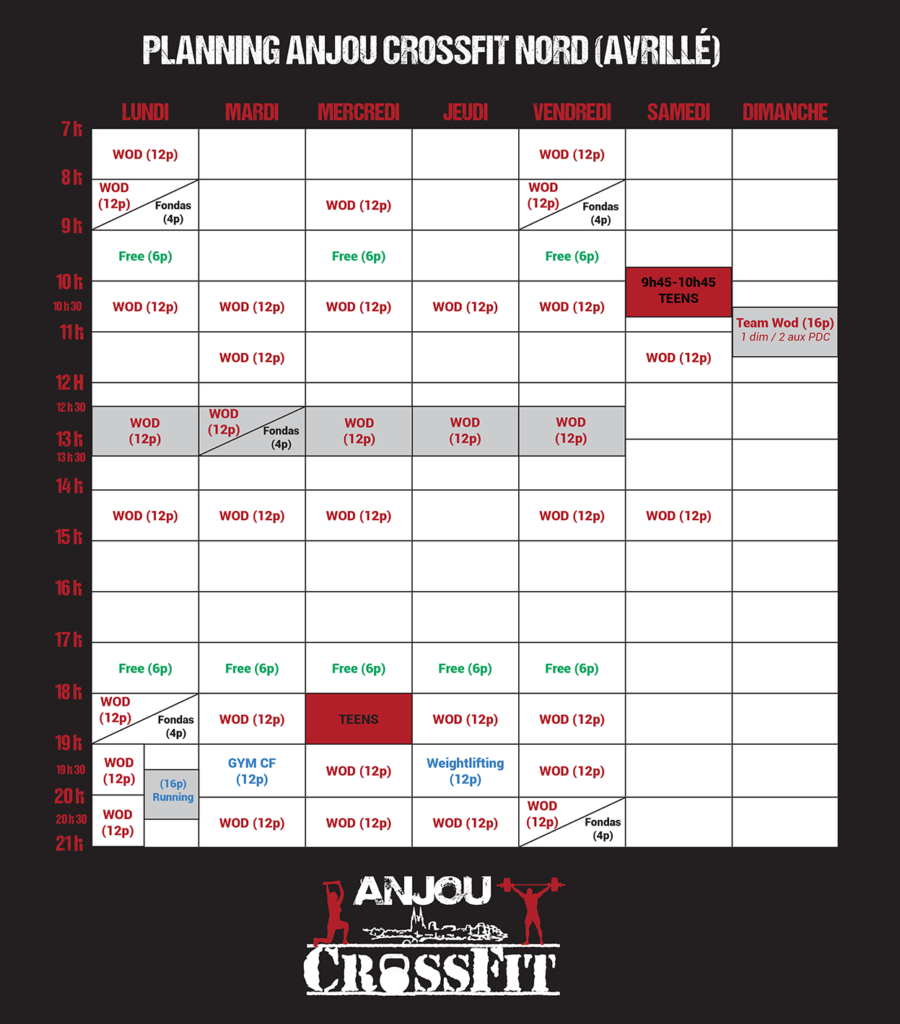 Crossfit-angers-anjou crossfit-49-cours-wod-planning ACF Nord (Avrillé) ok