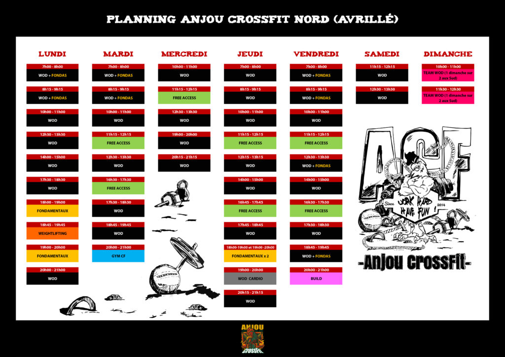 planning-anjou crossfit-nord-avrillé