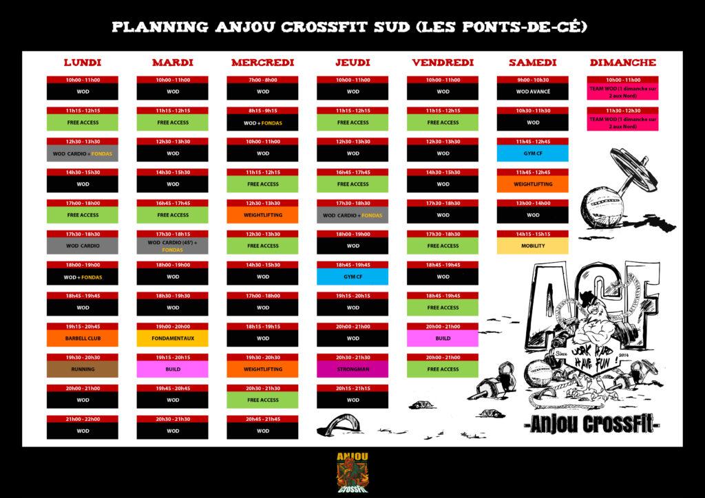 planning-anjou crossfit-sud-les-ponts-de-cé